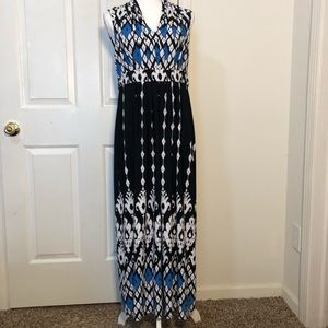 Chico's Women's Empire Waist Stretch Maxi Dress